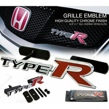 HONDA TYPE R CROMATO GRIGLIA BADGE. Civic, Accord, Prelude, INTEGRA Bianco