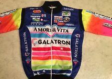 90s Amore & Vita Love & Life Cycling Winter Bike Jacket Vintage SZ 5 Rare Fanini