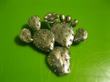 Retro Retired James Avery Sterling Silver Prickly Pear Cactus Pin Brooch