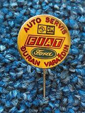 FIAT, FORD, OPEL, logo, auto servis - ĐURAN VARAŽDIN CROATIA, vintage pin, badge