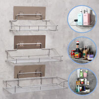 Bathroom Shower Shelf Storage Wall Suction Caddy Tidy Holder Rack Stainless New