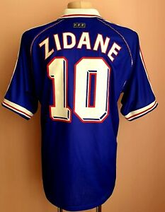 France 1997 - 1998 Home football Adidas shirt #10 Zinedine Zidane
