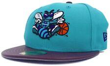 NBA New Era 59Fifty Charlotte Hornets Fitted Hat Size 6 7/8 Pebble Vize Retro Sz