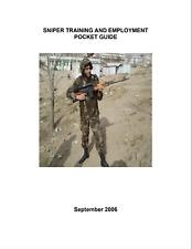 51 Page Afghan Sniper SVD 7.62-mm Dragunov Employment Pocket Guide Manual on CD