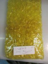 1/2 kilo transparent yellow bugle bead 10mm  India glass   SB743
