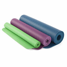 100% Natural Rubber EcoPRO Yoga Mat - 4mm Thick Purple, Blue, Red, Green & Grey
