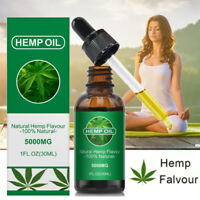 30ml Hemp Seed Oil High Strength 5000mg Pain Depression Anxiety Dropper Bottle