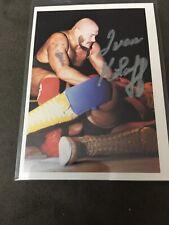 Ivan Kolofsigned autographed wrestling card NWA Card.295 No Coa