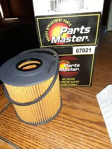 67021 PARTS MASTER OIL FILTER FITS VOLVO C70 2.3L GAS TURBOCHARGED '01,02 NOS