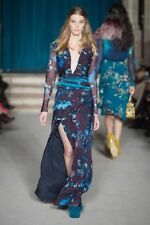 Matthew Williamson Mystical Folk Gown Maxi Dress AW15 Runway Look Size 8 UK