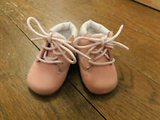Timberland Infant Baby Pink Soft bottom tie Crib Boots Booties sz 0 VGUC Sweet!