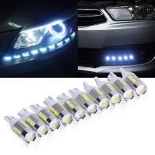 10X LED Ampoule Lampe Pour Voiture Car T10 5630 LED Large Light 5W 450LM Lumière