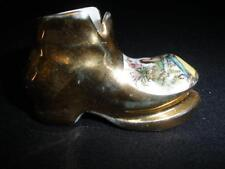 GLAMOROUS MINIATURE PORCELAIN SHOE LIMOGES 'MONARCH' MADEIN FRANCE