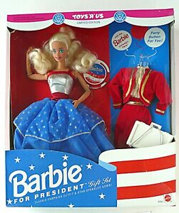 BARBIE FOR PRESIDENT Gift Set Toys R Us #3722 1991 Blonde NRFB