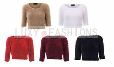 Unbranded Women's Scoop Neck 3/4 Sleeve Jumpers & Cardigans