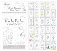 30 Memorable Moment Milestone Cards Baby Shower Mummy to Be New Mum 1st Year Age