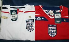 England Football Shirt by Umbro Official 2007 2009 White Red