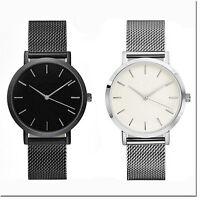 Classic Women's Men's Wrist Watch Steel Strap Quartz Casual Watches Unisex Gift
