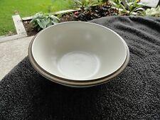 Dansk Santiago White Tan Rim Matte Off White Vegetable Serving Bowl