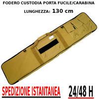 Borsa Fodero Custodia porta Fucile carabina colore DESERT TAN - 4 Tasche 130 cm