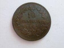 REGNO D'ITALIA  VITTORIO EMANUELE II -10 CENTESIMI 1863 PARIGI BB
