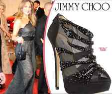 "SUPER GORGEOUS !!! JIMMY CHOO ""KILN"" HIGH HEEL CRYSTALS MESH  BOOTS EU 40 US 9"