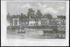 1869 Antiguo Print-Londres Río Támesis Remo carrera Doggett Abrigo insignia (160)
