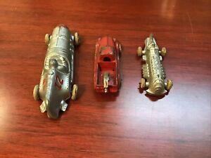 Hubley Kiddie Toy Car's Lot Of Three