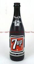 Pristine 1960 7up Amber Brown ACL TWELVE OUNCE 12oz Longneck Bottle