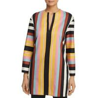 Tory Burch Womens Multi Striped Tunic Beachwear Dress Swim Cover-Up XS BHFO 7196