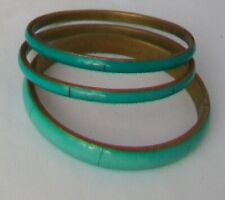 Bangles x 3 Turquoise Colour Metal