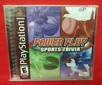 Power Play Sports Trivia  Brand New Hologram Sealed Playstation 1 2 PS1 PS2 Game