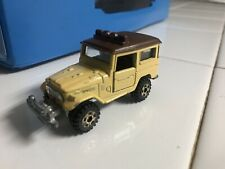 Tomica Toyota Land Cruiser 1:64 Tan Yellow Mustard Color Brown Roof Vintage