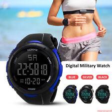 HONHX Men's Multifunction LED Waterproof Sports Electronic Digital Wrist Watch d