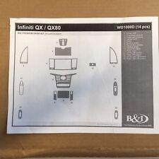 NEW Wood Grain Auto Dash Interior Trim Kit for Infiniti QX / QX80 2014 - 2016