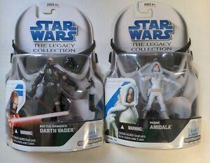 Star Wars Legacy Collection B.A.D Battle Damaged Darth Vader & Padme Lot.