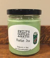 10 Ounce SOY Jar Candle Mountain Dew scented