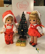 "Precious Moments 7"" YOU LIGHT UP MY LIFE CHRISTMAS SET Dolls"