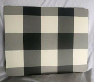 Pottery Barn Buffalo Check Cork Place Mat, Set of 4 - Black/White New