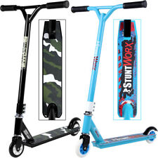 Trottinette Freestyle bleue - Roulement ABEC 7 - 100mm 85A - sauts et acrobaties