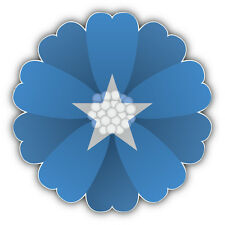 Somalia Flag Flower Car Bumper Sticker Decal 5'' x 5''