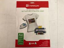 Mirror Light Transfer Paper for Inkjet Printer 150 GSM For Light Colours BNIB