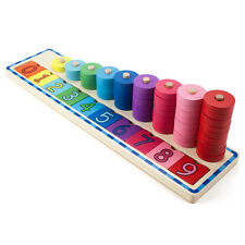 Colorful Counting Number Stacker Kids Learning Play Toy- Wooden Wonders