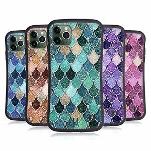 MERMAID SCALES PATTERNS HYBRID CASE & WALLPAPER FOR APPLE iPHONES PHONES