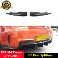 E82 1M Splitters Carbon Fiber Rear Aprons for BMW 1M 2011-13 R Style