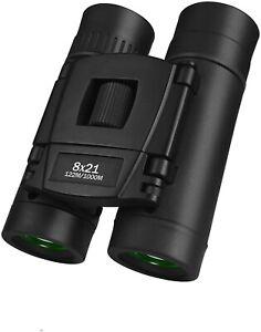 Ronhan Kids Binoculars 8x21, Waterproof Folding Binoculars for Boy/Girl - Black