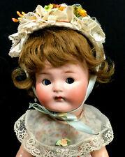 "Rare Heubach Koppelsdorf Googly # 417 12"" Cabinet Character Doll Bisque Antique"