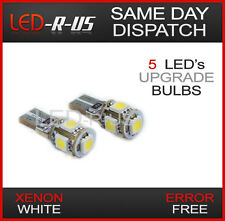 AUDI A4 S4 RS4 B7 Front Parking Sidelight Xenon White Canbus 5 LED Bulbs W5W T10