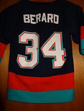 New York Islanders Bryan Berard Jersey Size Youth Small Rare Vintage Logo 7 NHL