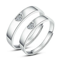 His and Hers Rings Couples Promise Rings Adjustable Open Ring set